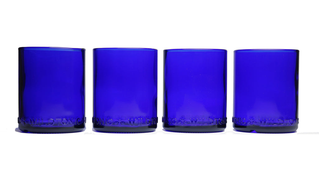 Refresh Glass Limited Edition Cobalt Blue 12oz 4 pack