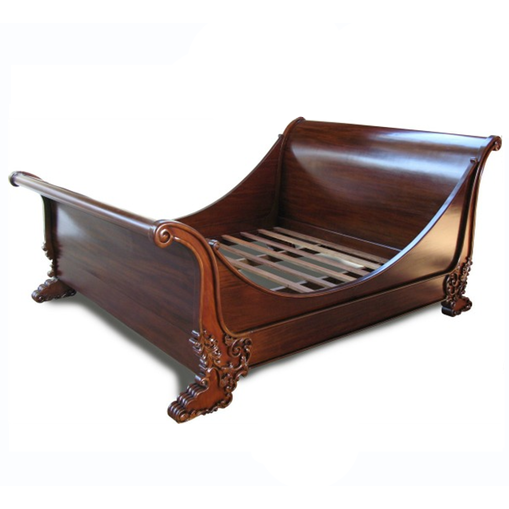 brodsworth luxury french sleigh bed frame serendipity home interiors - Sleigh Bed Frame