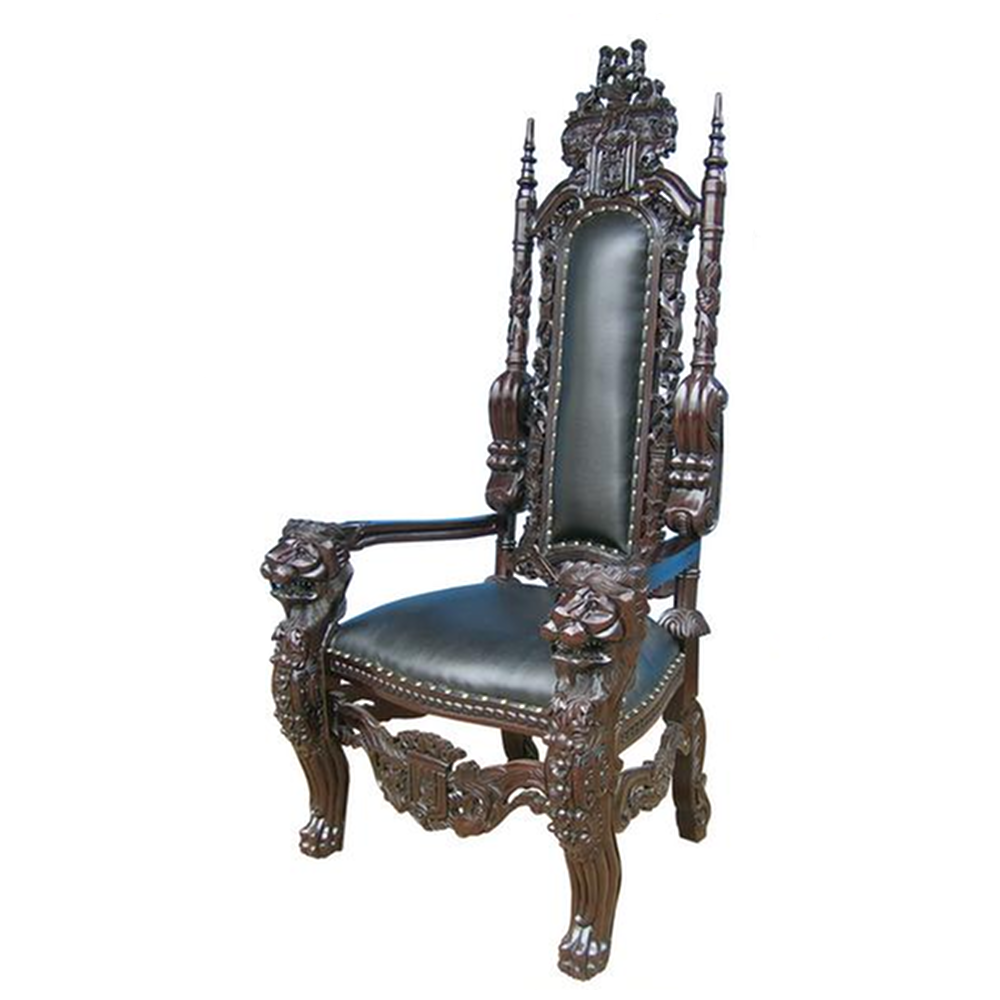 statement chair - king of the castle lion throne chair