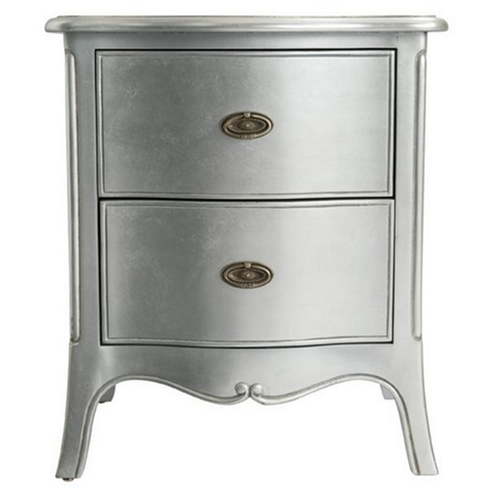 Silver Leaf Bedroom Furniture French Style Furniture Sophia Silver Leaf Bedside Cabinet