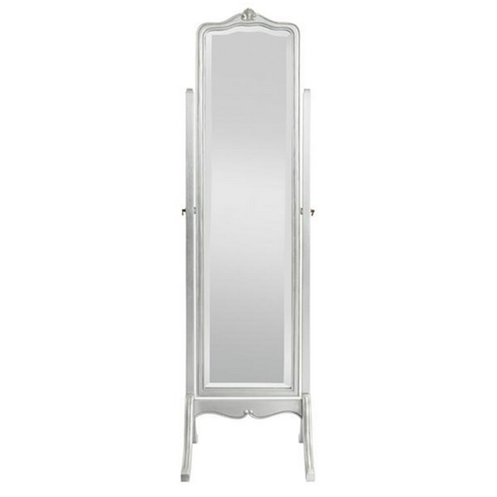 Shabby Chic Bedroom Mirror French Style Furniture Sophia Silver Leaf Cheval Mirror