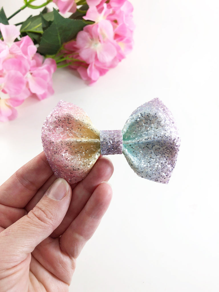 Rainbow Sparkle Bow