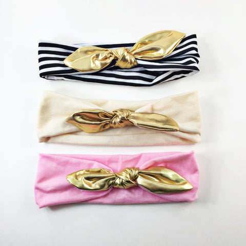 Karen- Gold Knotted Headbands