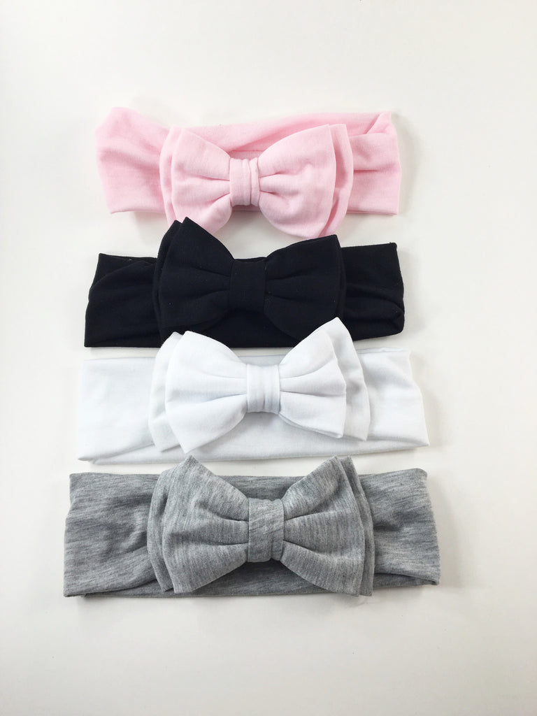 Sophia- Cotton Bow Headbands