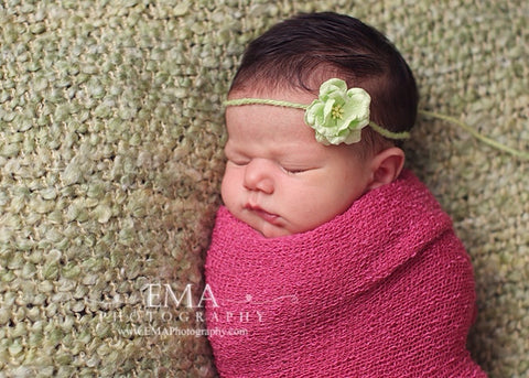 Green Newborn Headband