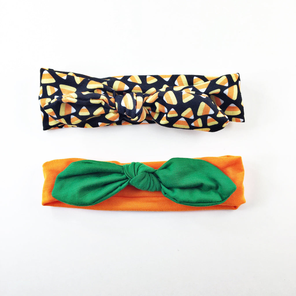 Karen- Orange/Green Headband and Candy Corn Headband