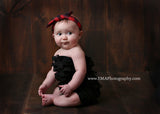 Karen- Red and black plaid knotted headband