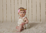 Karen- Pink and Gold Knotted Headband