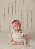 Karen- Coral and Gold Knotted Headband
