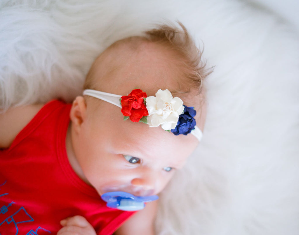 Grace-Red, White, and Blue Headband