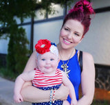 Rosanna-Red, White, and Blue Headband