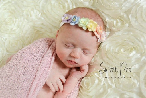 Annabelle- Rainbow Floral Crown Headband