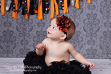 Annie-black and orange headband