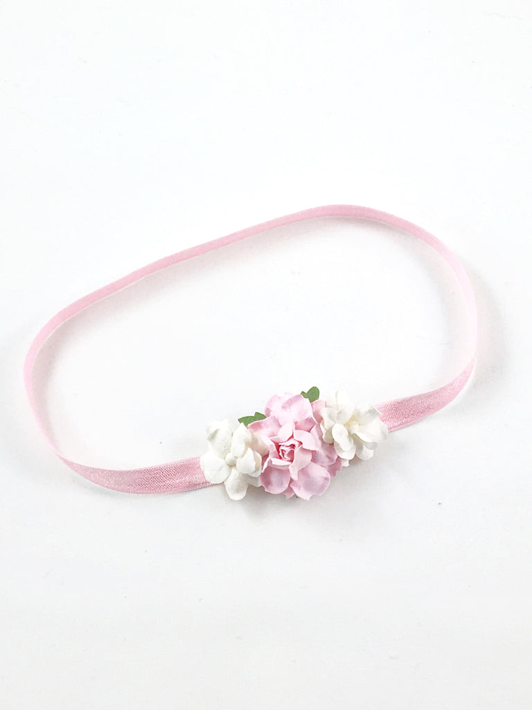 Grace- Pink and Cream Headband