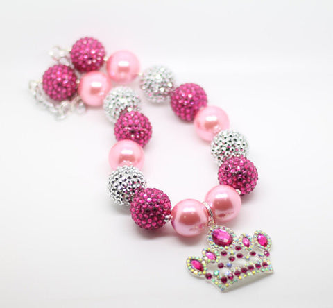 Princess Necklace- Pink and Hot Pink