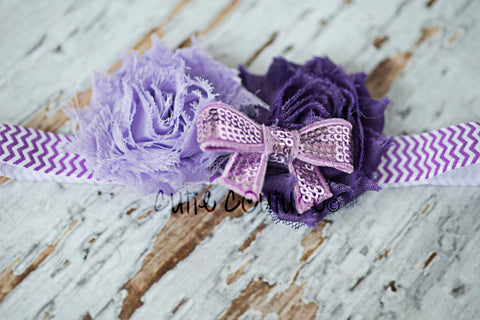 Jasmin- Purple and Lavender Headband