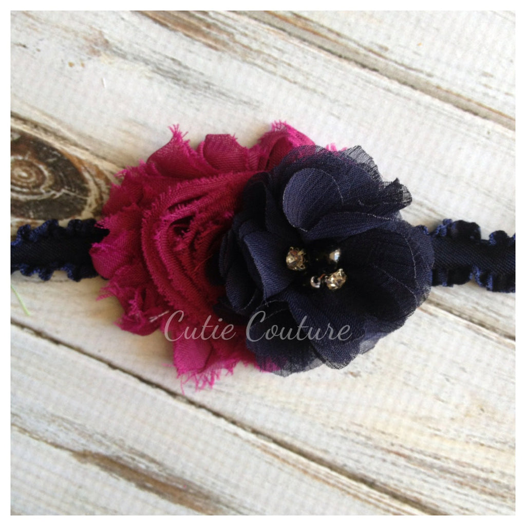 Camilla- Plum and Navy headband