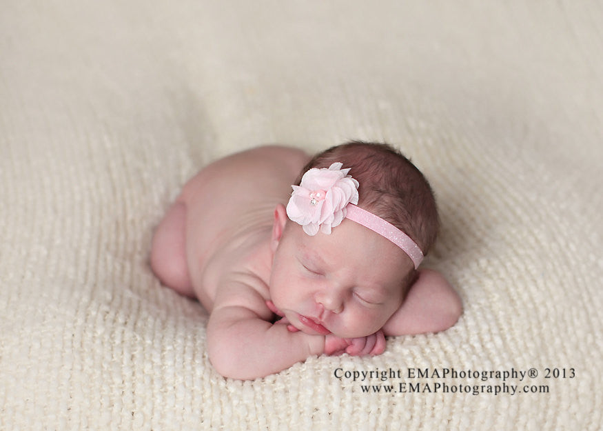 Cammie- Pink Headband and Clip