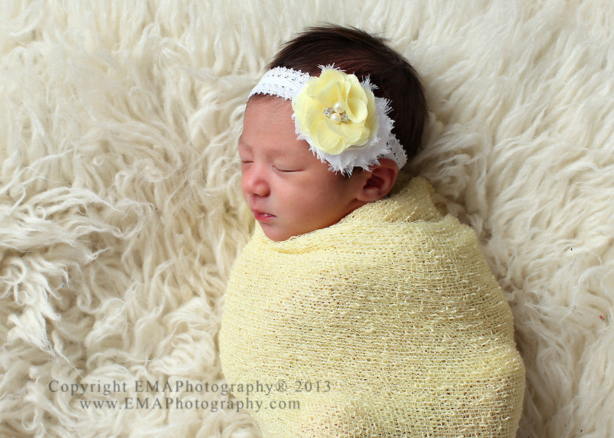 Camilla- Yellow and White Headband