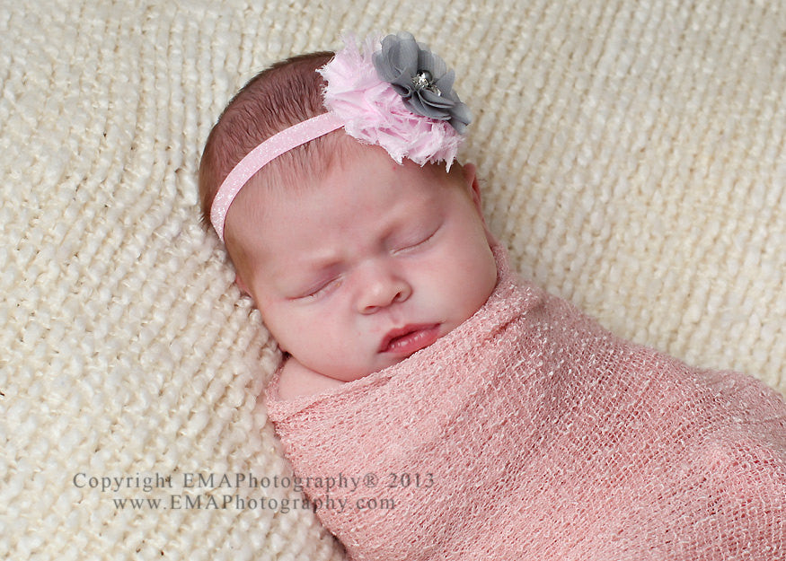 Camilla- Pink and Gray Headband