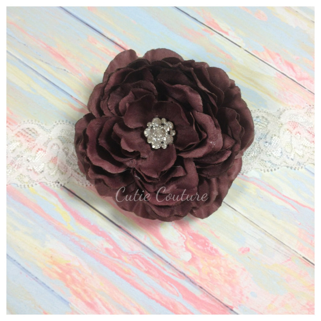Samantha- Brown Headband