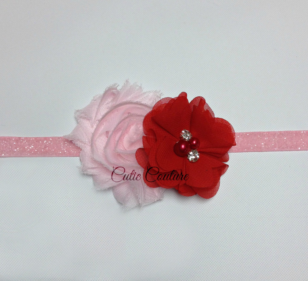 Camilla- Red and  Pink Headband