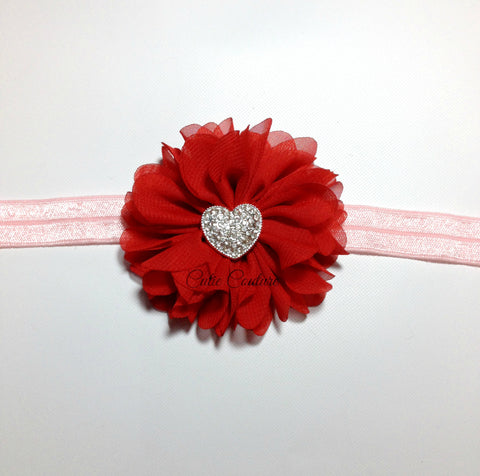Luciana- Red Heart Headband