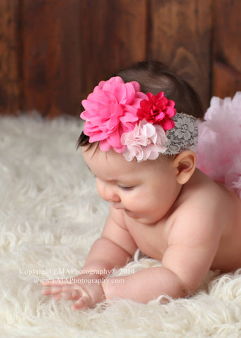 Isabella- Pink and Hot Pink headband