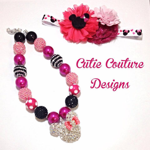 Minnie Necklace- Pink