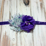 Camilla- Purple Floral and Purple Headband
