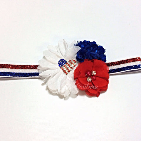Isabella- Red, White, and Blue Headband