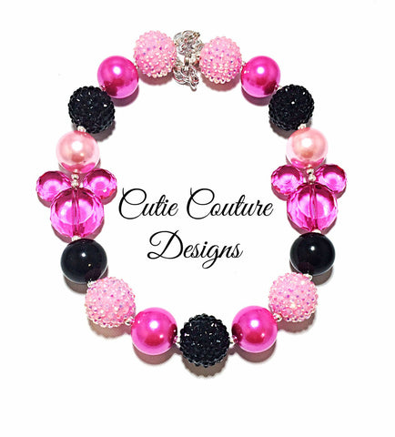 Minnie Necklace- Pink and Hot Pink