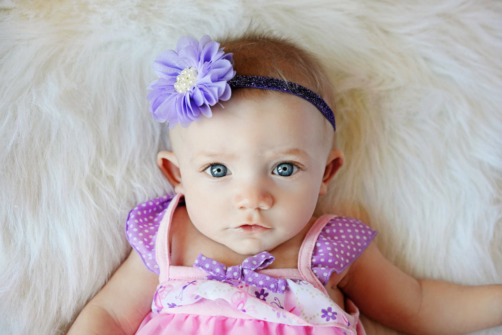Luciana- Lavender Headband with pearl