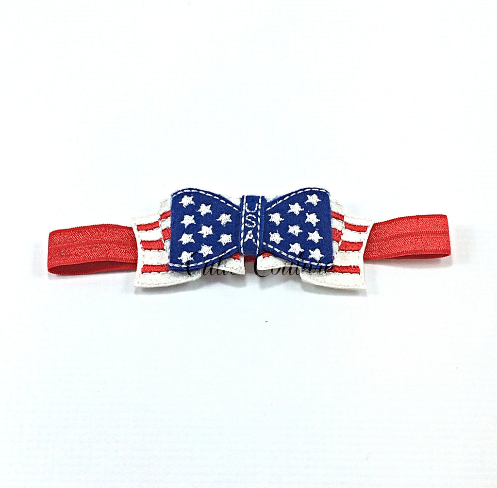 Red White and Blue Flag Feltie Headband