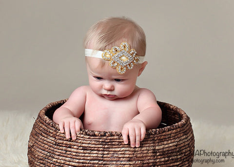 Macey- Gold Headband