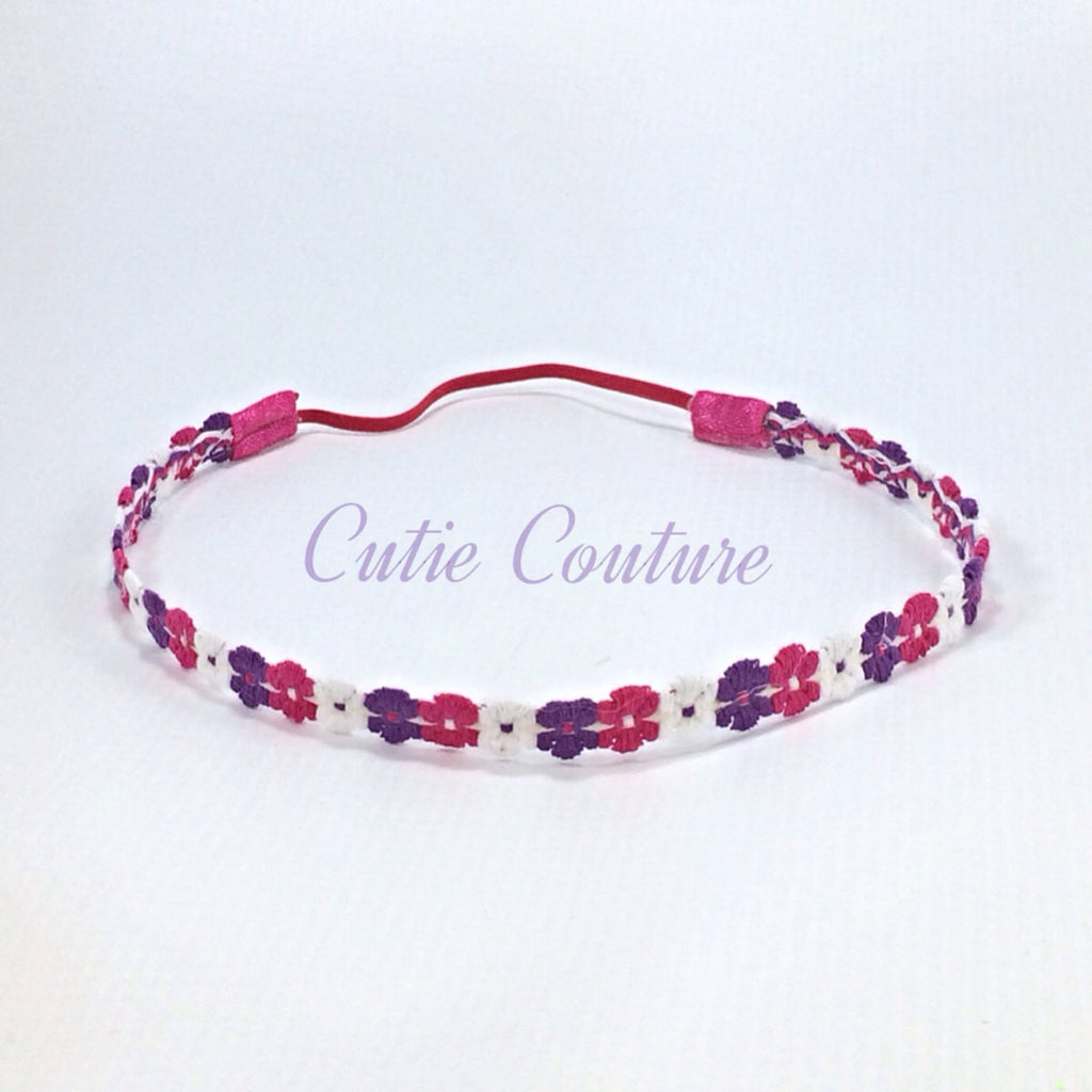 Pink, Purple and White Halo Headband