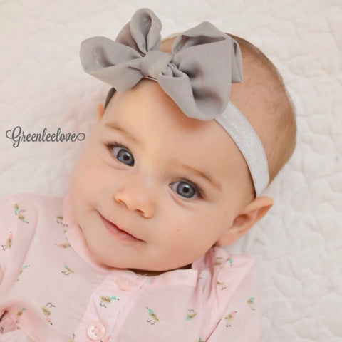 Bonnie- Gray Bow Headband