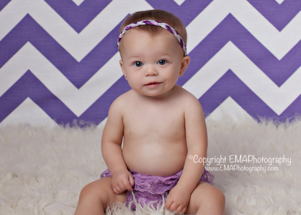 Brandi- Purple, Lavender, and Silver Braided Headband