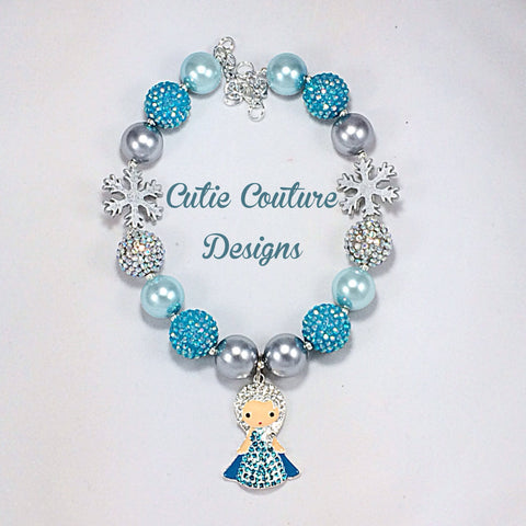 Elsa bubblegum necklace- Frozen
