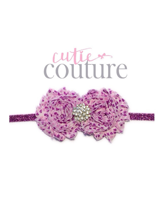 Jasmine-Purple Heart Headband