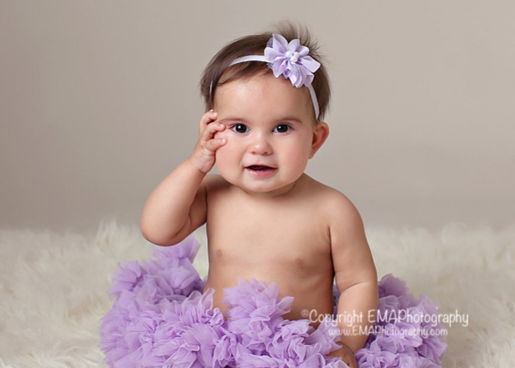 Zoe- Lavender Headband with pearls
