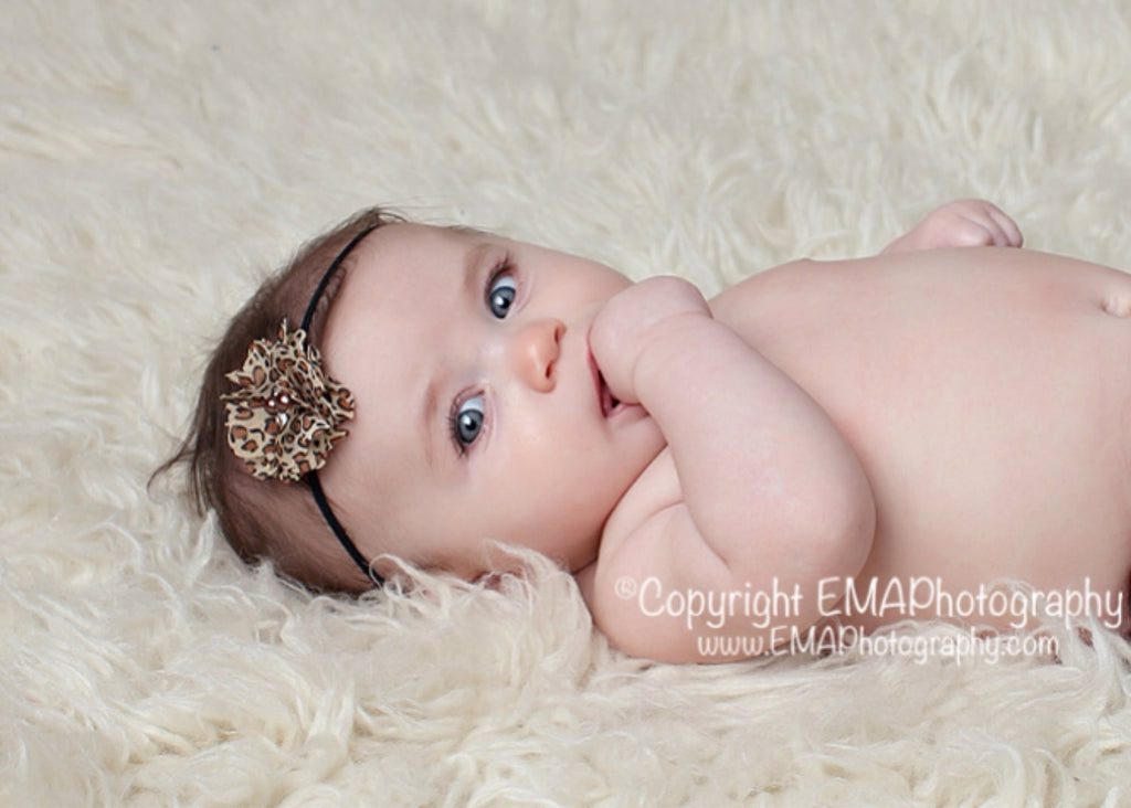 Cammie- Leopard Headband or Clip