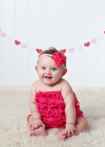 Stella- Hot Pink Heart Headband
