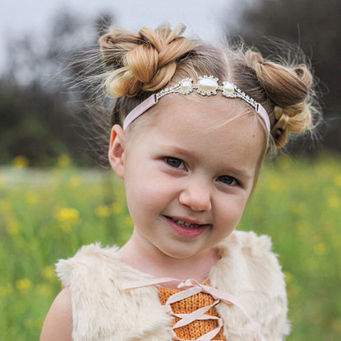 Joellie- Pearl and Rhinestone Headband