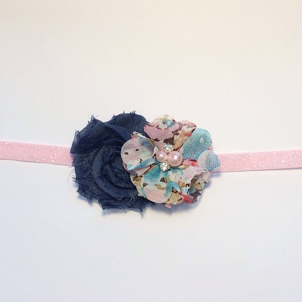 Camilla- Navy and Floral Headband