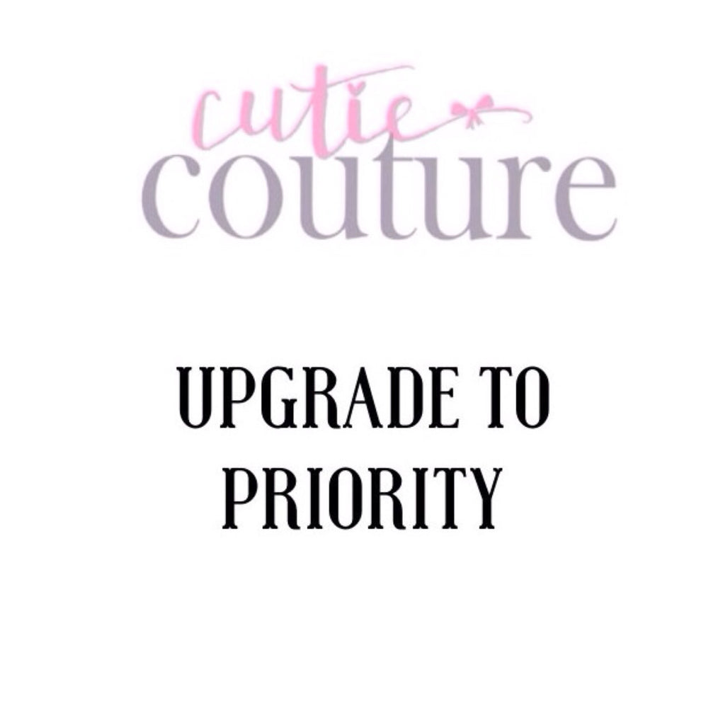 Upgrade to Priority Shipping Only - Add on NO COUPON may be used!