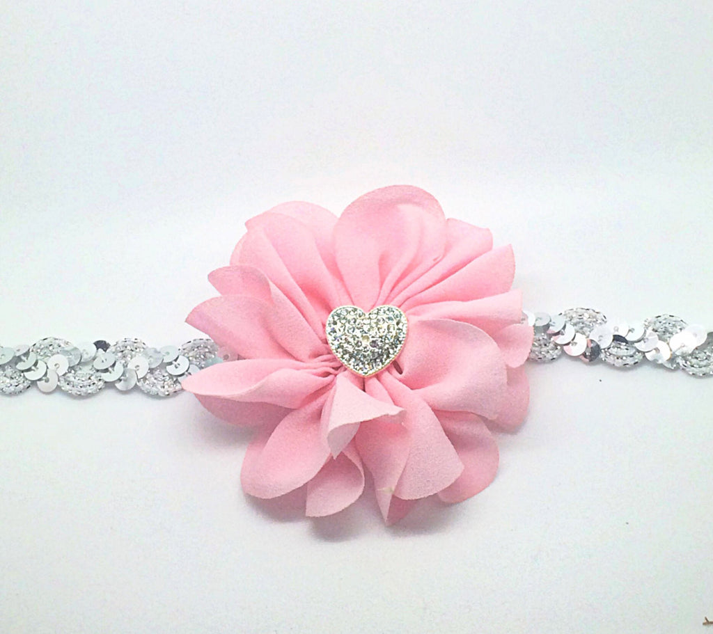 Penelope- Pink and Silver Headband
