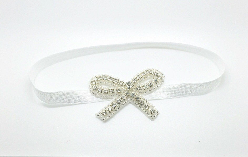 Macey- Rhinestone Bow headband