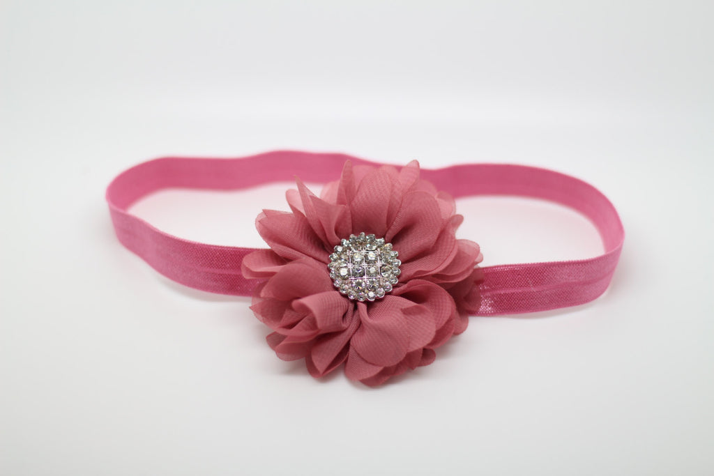 Luciana- Dusty Rose Headband