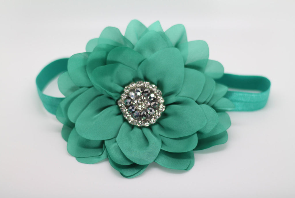Simone- Green/Teal headband